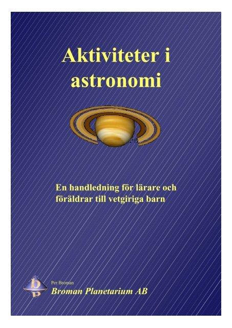 Aktiviteter i astronomi - Broman Planetarium