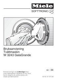 Bruksanvisning Tvättmaskin W 3243 GalaGrande - Hemexperten