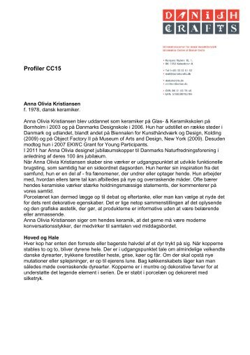 CC15 Designer Profiler DK - Danish Crafts