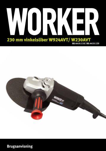 230 mm vinkelsliber W924AVT/ W230AVT - Worker