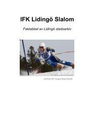 IFK Lidingö Slalom - Lidingö stad