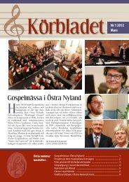Körbladet nr 1 2012 - Finlands svenska kyrkosångsförbund