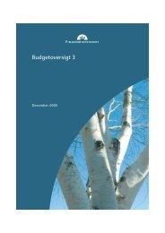 Budgetoversigt 3, december 2005, som kan ... - Finansministeriet