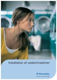 Installation af vaskerimaskiner - Electrolux Laundry Systems