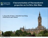 Characterisation of Thermoelectric properties on Ge/SiGe thin films