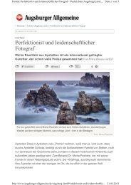 Perfektionist und leidenschaftlicher Fotograf - Aystetten