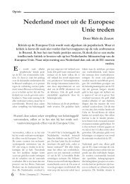 Nederland moet uit de Europese Unie treden E - Spil