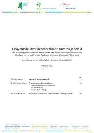 Essaybundel over decentralisatie ruimtelijk beleid - Raad voor de ...