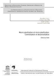 Macro planification et micro planification: Centralisation et ...