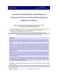 Sensitivity and Specificity of Self-Reported Symptoms for Exercise ...