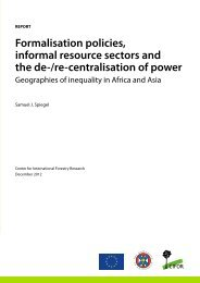 Formalisation policies, informal resource sectors and the de-/re ...