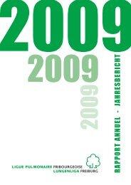 Jahresbericht 2009 - Lungenliga