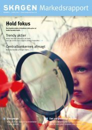 Markedsrapport 1 - SKAGEN Fondene