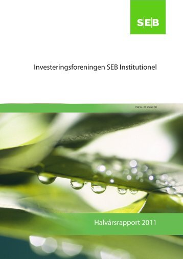 Investeringsforeningen SEB Institutionel - Wealth Management