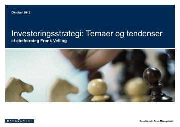 Investeringsstrategi: Temaer og tendenser - BankNordik