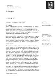 Samlet fortegnelse over bilag til magistratsmøde 5 ... - Aarhus.dk