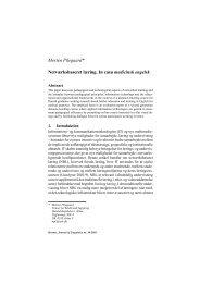 Morten Pilegaard* Netværksbaseret læring. In casu medicinsk engelsk