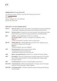 CV Vera D Laursen - fotografi, tegning, grafisk design og layout