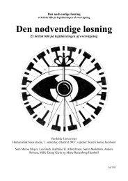 Den nødvendige løsning - Roskilde Universitet