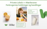 Holdninger til Private Labels - Wilke