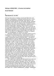 Uddrag af REND MIG ... Et essay om tradition Knud Wentzel I ...