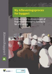 Ny Afleveringsproces for byggeri - AlmenNet