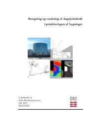 Beregning og vurdering af dagslysforhold i projekteringen af ...