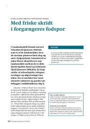 Med friske skridt i forgængeres fodspor - Det grønlandske Selskab