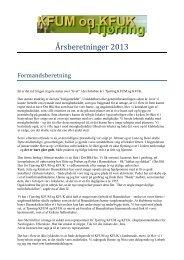 Årsberetninger 2013 - KFUM og KFUK i Danmark