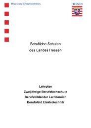 Berufsfeld Elektrotechnik - Berufliche Bildung in Hessen