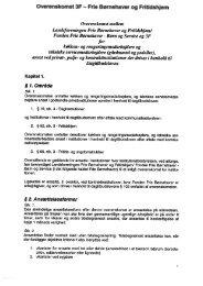 Overenskomst for køkken - Frie Børnehaver og Fritidshjem