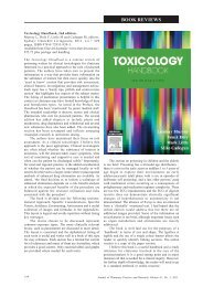 Toxicology Handbook, 2nd edition - jppr
