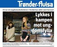 Lykkes i kampen mot undomsfylla [Trønder-Avisa] - Trøndelag ...