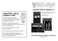 Salg af RSL - tøj og ketchere i VBK - Vanløse Badminton Klub