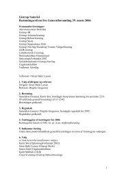 Gistrup Samråd Beslutningsreferat fra Generalforsamling 29. marts ...