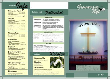 Kirkeblad nr. 1 2013 - Grønnevang Kirke