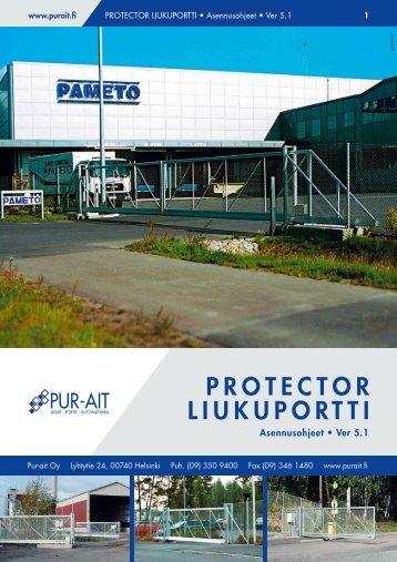 Protector liukuportti asennusohjeet - Pur-Ait Oy