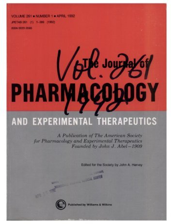 Front Matter (PDF) - Journal of Pharmacology and Experimental ...