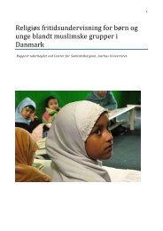 Religiøs fritidsundervisning for børn og unge blandt ... - Ny i Danmark