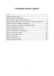 Sociologiske metoder i praksis - Sociologi - Aalborg Universitet