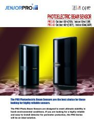 The PRO Photoelectric Beam Sensors are the best ... - JR International