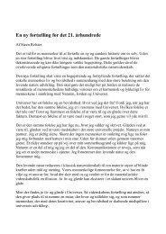 En ny fortælling for det 21. århundrede - Steen Relster om ...