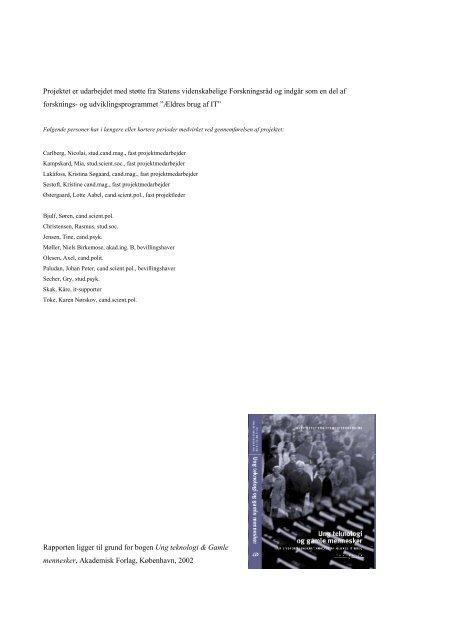 Ældre og Informationsteknologi - Instituttet for Fremtidsforskning