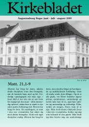 Matt. 21,1-9 - augustenborgkirke