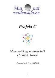 Projekt C - Matematik og naturfag i verdensklasse