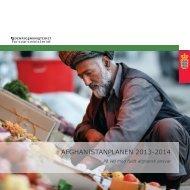 plan for den danske indsats i Afghanistan 2013 - Udenrigsministeriet