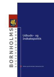 Udbuds– og Indkøbspolitik - Bornholms Regionskommune