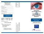 Advances in Eye Care Annual UCLA Jules Stein Eye Institute ...