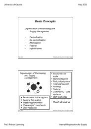 Basic Concepts Centralisation - DICA