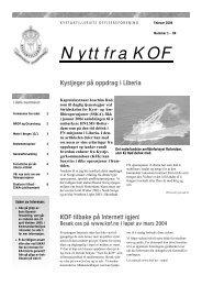 Nytt fra KOF nr 1, 2004 - Kystartilleriets offisersforening